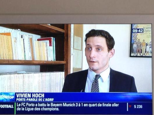 Vivien Hoch, porte-parole de l'AGRIF, sur BFM à propos de l'affaire Plantu